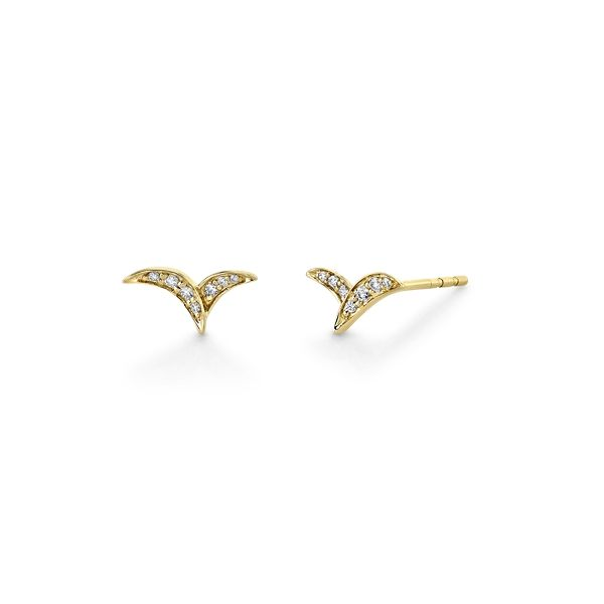 14k Yellow Gold Earrings .08 ct. tw.