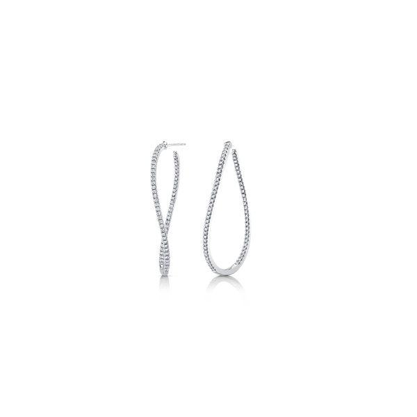 Memoire 18k White Gold Earrings 1 3/4 ct. tw.