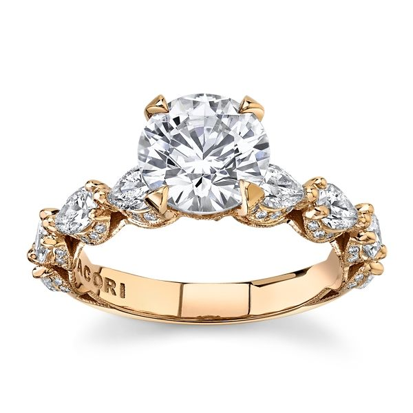 Tacori 18k Rose Gold Diamond Engagement Ring Setting 1 1/2 ct. tw.