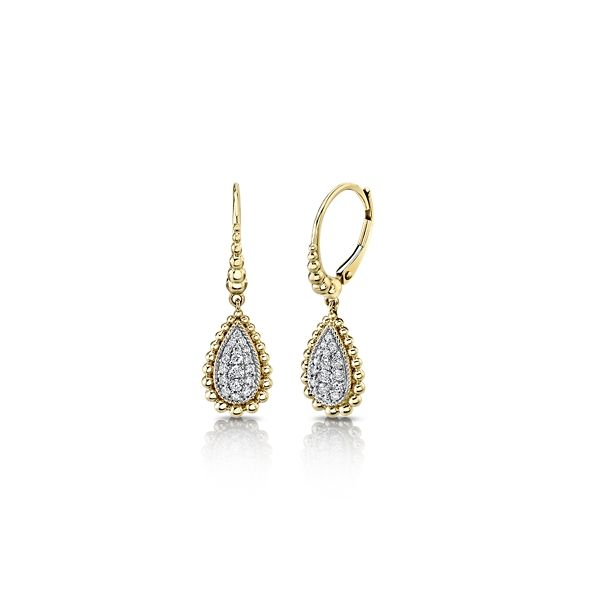 Gabriel & Co. 14k Yellow Gold and 14k White Gold Earrings 1/3 ct. tw.