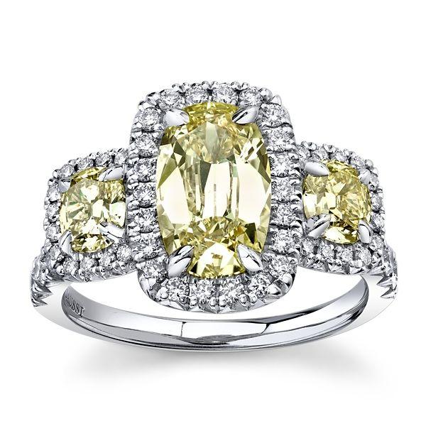 Henri Daussi 18k White Gold Diamond Engagement Ring 3 ct. tw.