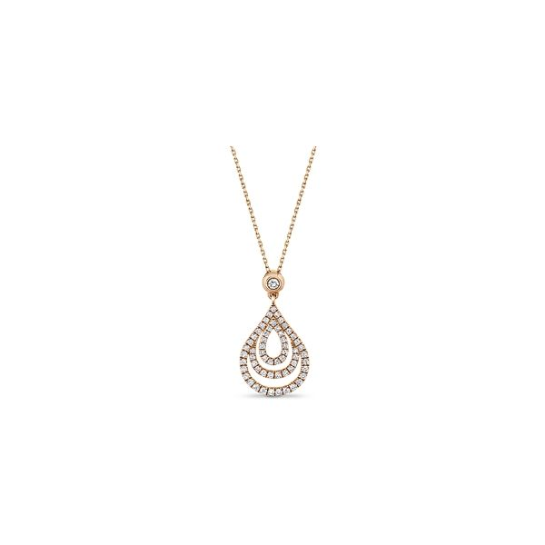 14k Rose Gold Pendant 1/2 ct. tw.