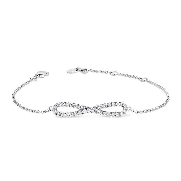 14k White Gold Bracelet 3/8 ct. tw.