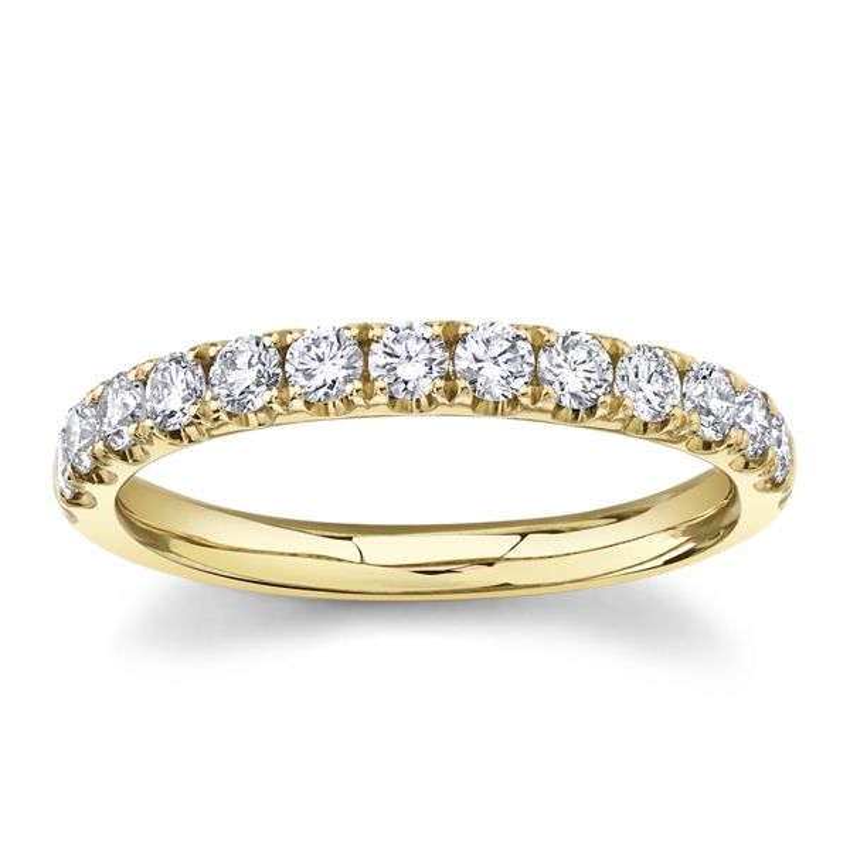 Divine 14k Yellow Gold Diamond Wedding Band 1/3 ct. tw.