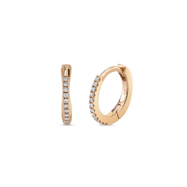 14k Rose Gold Earrings .06 ct. tw.