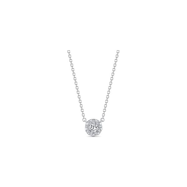 Memoire 18k White Gold Necklace 1/3 ct. tw.