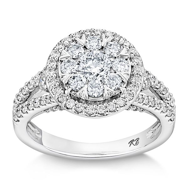 Mosaic Collection 14k White Gold Diamond Engagement Ring 1 1/2 ct. tw.