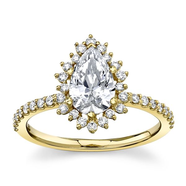 RB Signature 14k Yellow Gold Diamond Engagement Ring Setting 1/4 ct. tw.