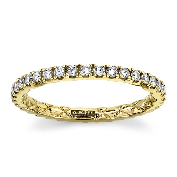 A. Jaffe 14k Yellow Gold Diamond Wedding Band 1/2 ct. tw.