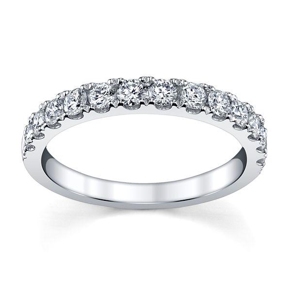 14k White Gold Diamond Wedding Band 5/8 ct. tw.