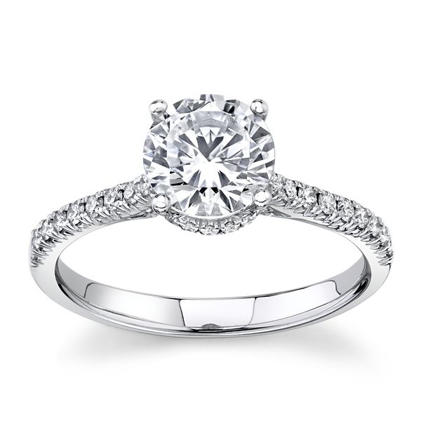 Simon G. 18k White Gold Diamond Engagement Ring Setting 1/4 ct. tw.