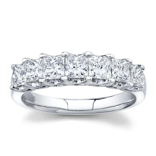 14k White Gold Diamond Wedding Ring 1 1/2 ct. tw.