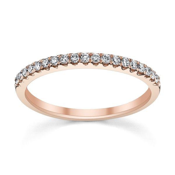 14k Rose Gold Diamond Wedding Band 1/5 ct. tw.