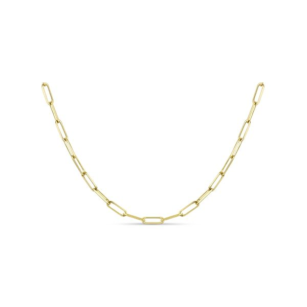 """14k Yellow Gold 20"""" Paperclip Link Chain Necklace"""