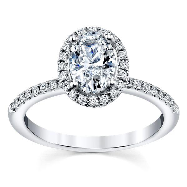 Poem 14k White Gold Diamond Engagement Ring Setting 1/4 ct. tw.