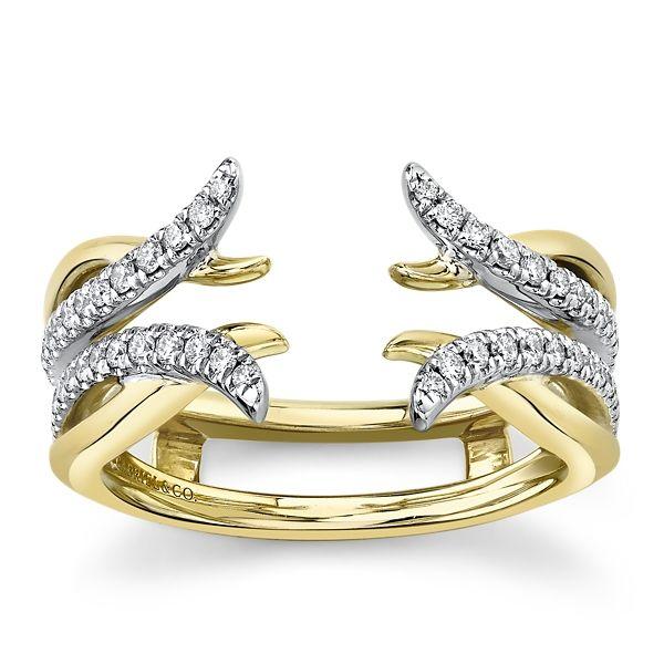 Gabriel & Co. 14k Yellow Gold and 14k White Diamond Wedding Band 1/4 ct. tw.
