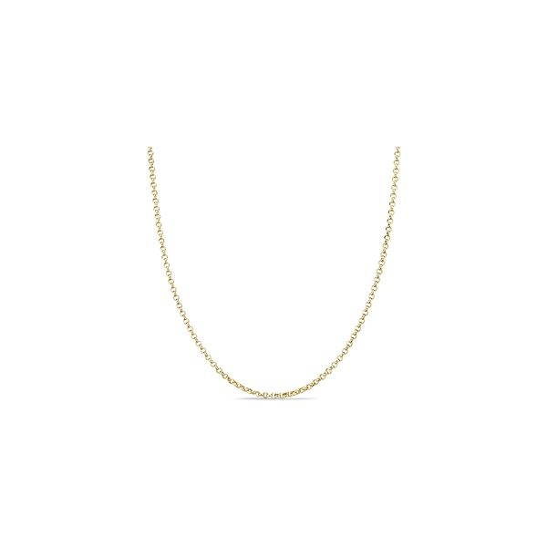 """14k Yellow Gold 18"""" Rolo Chain"""