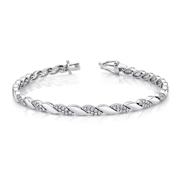 Shy Creation 14k White Gold Bracelet 1 ct. tw.