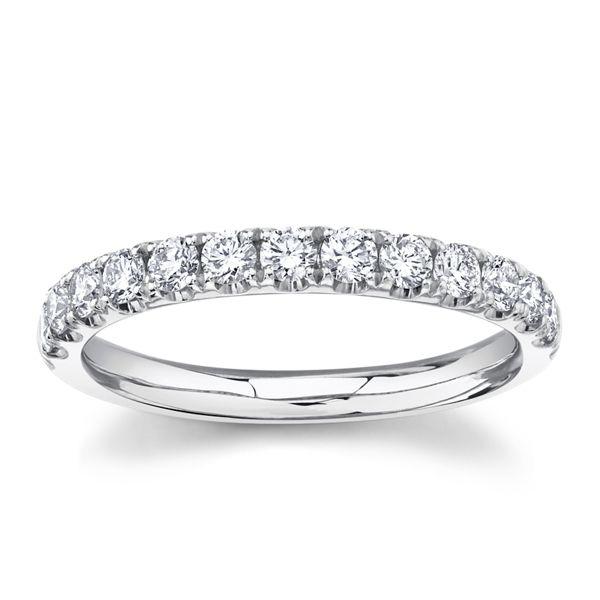 Divine 14k White Gold Diamond Wedding Band 1/3 ct. tw.
