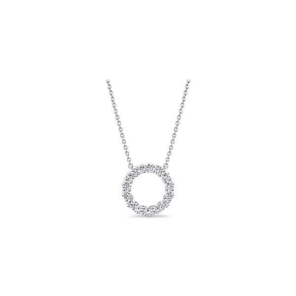 Memoire 18k White Gold Diamond Circle Necklace 1 ct. tw.