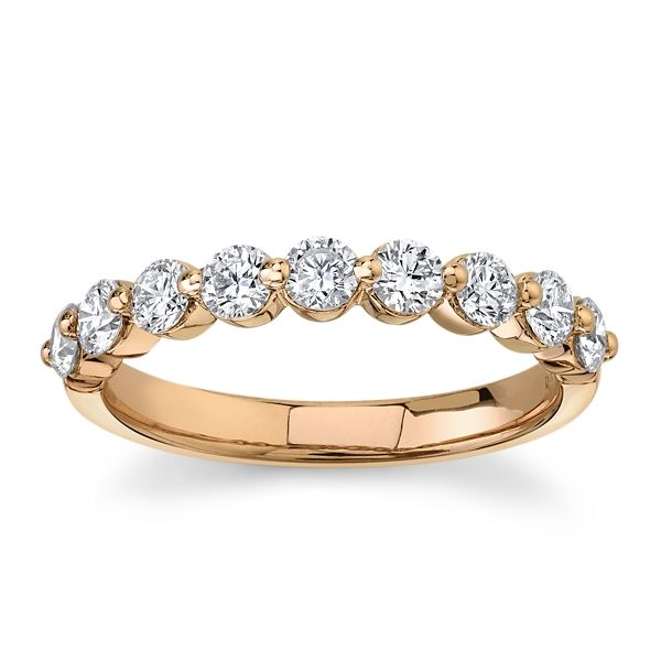 Divine 18k Rose Gold Diamond Wedding Band 3/4 ct. tw.