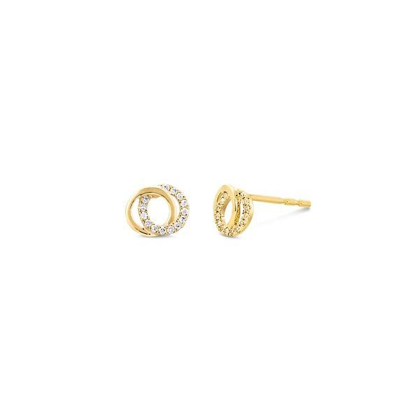 Shy Creation 14k Yellow Gold Earrings 0.07 ct. tw.