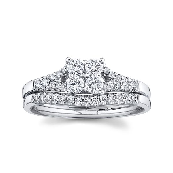 Cherish 14k White Gold Diamond Wedding Set 1/2 ct. tw.