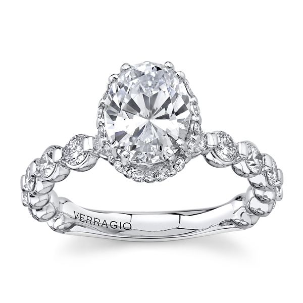 Verragio 14k White Gold Diamond Engagement Ring Setting 1 ct. tw.