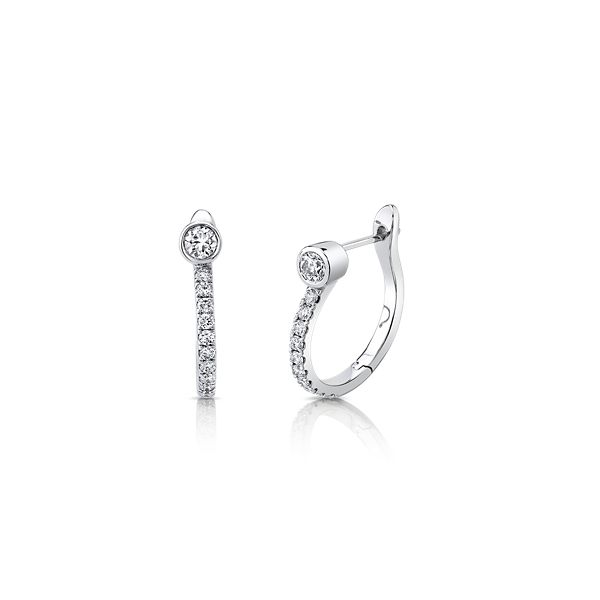 Shy Creation 14k White Gold Earrings 5/8 ct. tw.