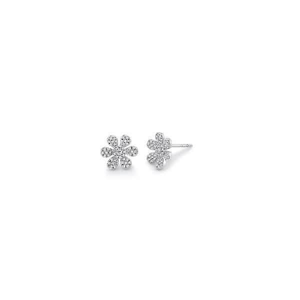 Shy Creation 14k White Gold Earrings 1/4 ct. tw.