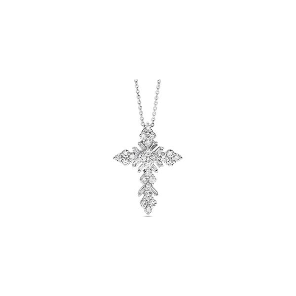 Shy Creation 14k White Gold Necklace 5/8 ct. tw.