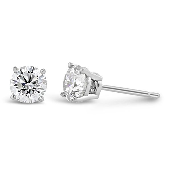 Eternalle Lab-Grown 14k White Gold Solitaire Earrings 3/4 ct. tw.