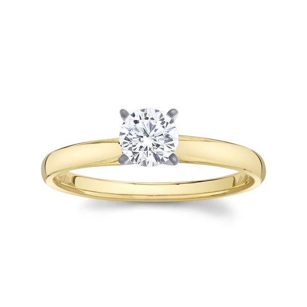14k Yellow Gold and 14k White Gold Engagement Ring Setting