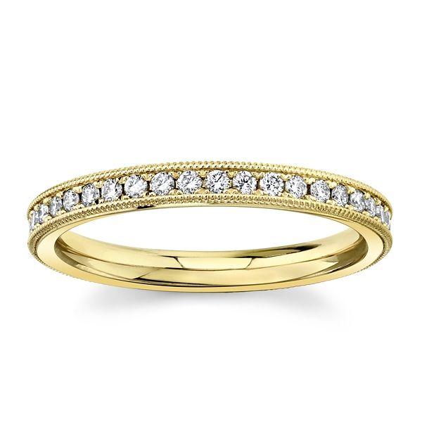 Christian Bauer 14k Light Rose Gold Diamond Wedding Band 1/4 ct. tw.