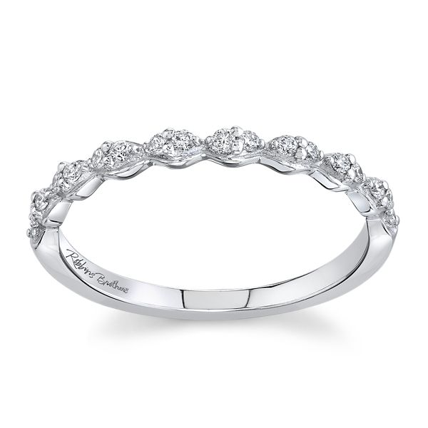 RB Signature 14k White Gold Diamond Wedding Band 1/8 ct. tw.
