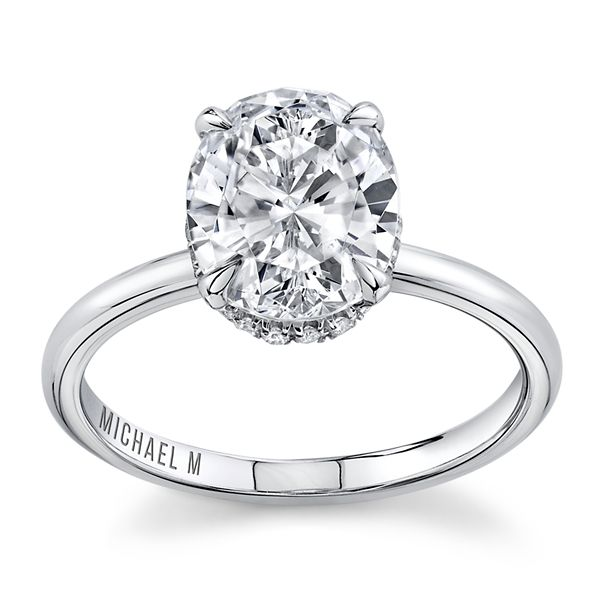 Michael M. 18k White Gold Diamond Engagement Ring Setting 1/10 ct. tw.