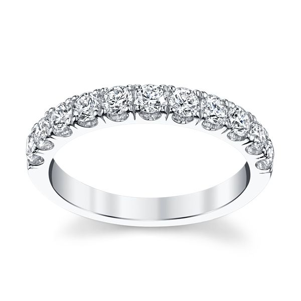 Suns and Roses 14k White Gold Diamond Wedding Band 3/4 ct. tw.