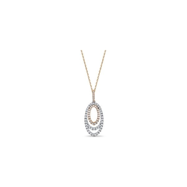 14k Rose and 14k White Gold Pendant 5/8 ct. tw.