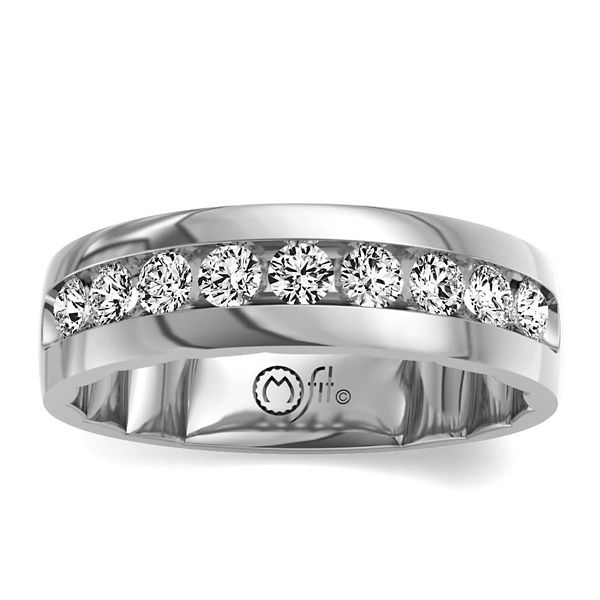 MFit 14k White Gold Diamond Wedding Band 1 ct. tw.