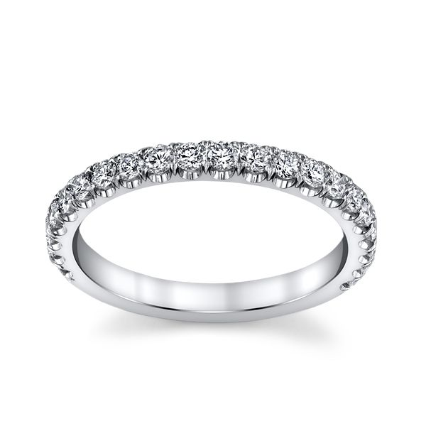 Michael M. 18k White Gold Diamond Wedding Band 5/8 ct. tw.