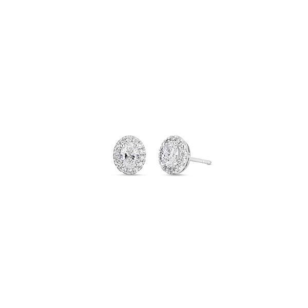Eternalle Lab-Grown 14k White Gold Earrings 1 ct. tw.