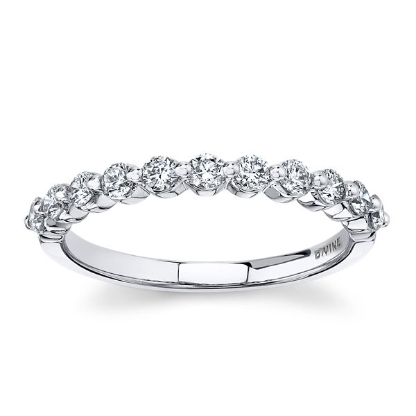 Divine 18k White Gold Diamond Wedding Band 1/2 ct. tw.