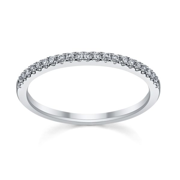Platinum Diamond Wedding Band 1/10 ct. tw.