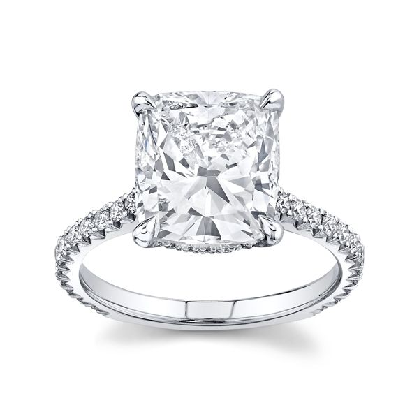 Henri Daussi 18k White Gold Diamond Engagement Ring 4 3/4 ct. tw.