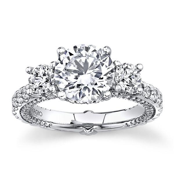 Verragio 18k White Gold Diamond Engagement Ring Setting 1 1/2 ct. tw.