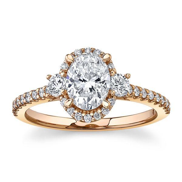 Poem 14k Rose Gold Diamond Engagement Ring 1 1/3 ct. tw.
