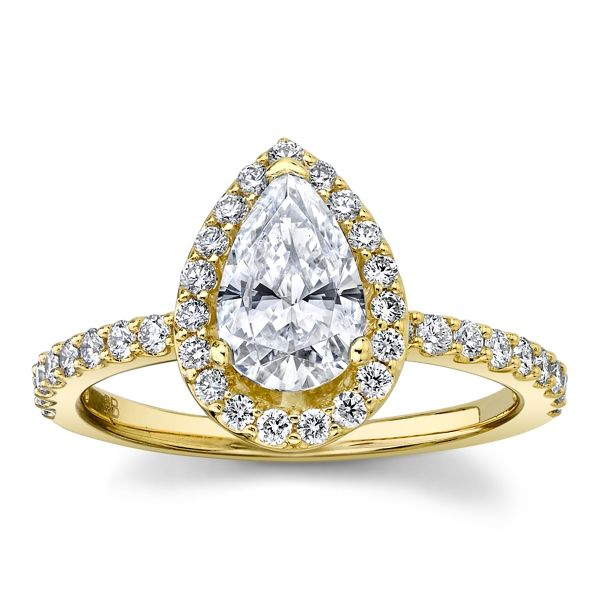 Suns and Roses 14k Yellow Gold Diamond Engagement Ring Setting 3/8 ct. tw.