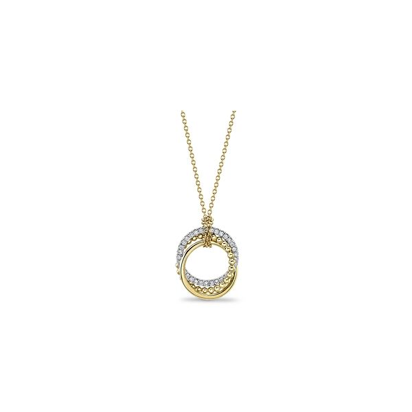 Gabriel & Co. 14k Yellow Gold and 14k White Gold Necklace 1/4 ct. tw.