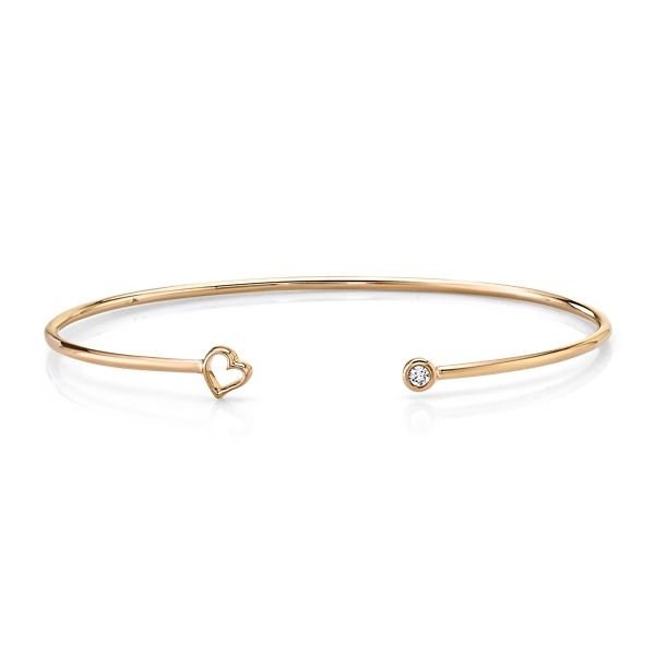 Shy Creation 14k Rose Gold Bracelet .03 ct. tw.