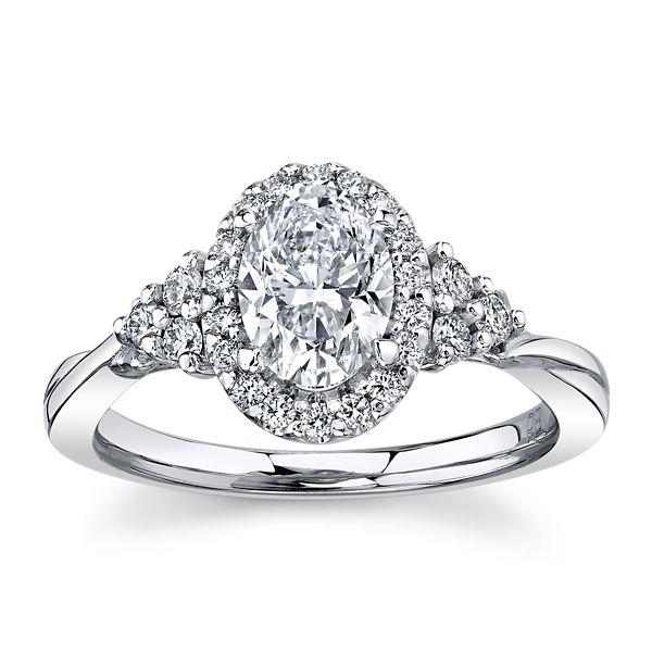 Poem 14k White Gold Diamond Engagement Ring 1 1/4 ct. tw.
